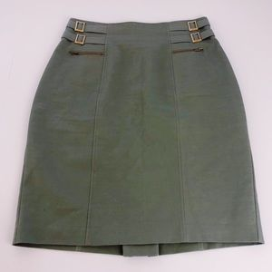 Military style olive green Worthington skirt 12